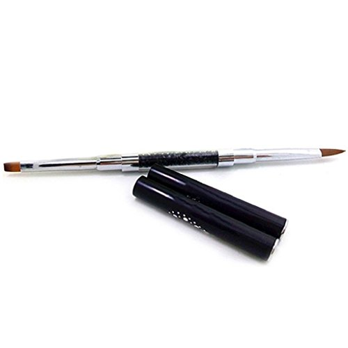 1PC Nail Art Gel UV Strass Poignée à double Acrylique DIY Brosse Pen