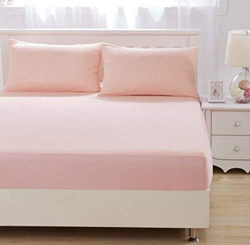 XLMHZP Sábana bajera para cama tamaño king solamente, terciopelo de cristal grueso acolchado funda de colchón cálida suave de felpa Queen King, sábana bajera de 180 cm x 220 cm + 30 cm