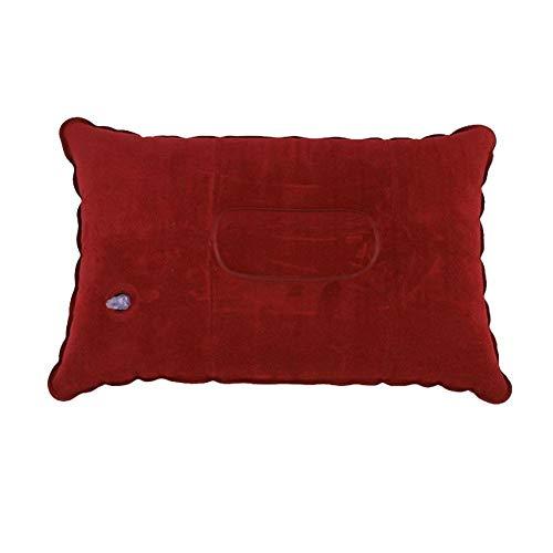 Snow Island Almohada de flocado al aire libre, rectangular, inflable para viajes, camping, portátil, almohada cuadrada
