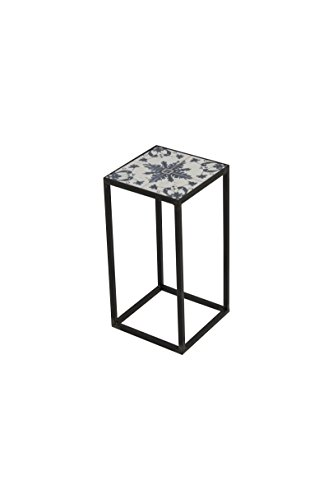 Spinder Design Ibiza Colonne 20 x 20 x 40 cm – Fer forgé/carrelage