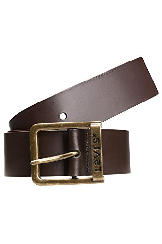 Pelle Levis Cintura di marca Ponte Fibbia Marrone scuro Marrone Marrone - 221484-3-29, Gürtel Länge Levi's:90 cm