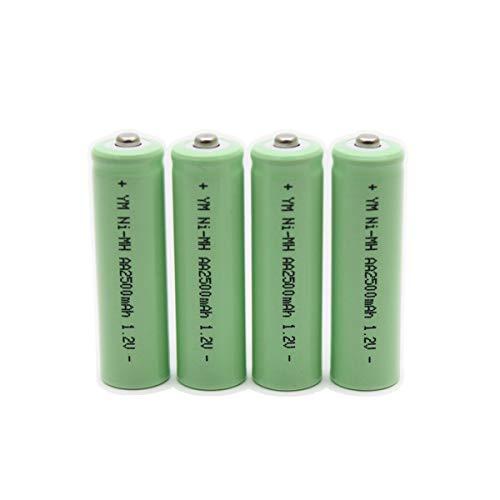 Paquete de 4 baterías AA de alta capacidad de 2500 mAh, 1,2 V, batería recargable, sin efecto memoria