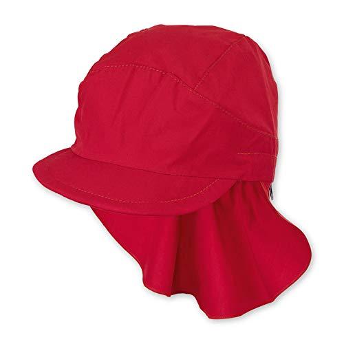 Sterntaler Mädchen Schirmmütze m. Nackenschutz Mütze, Rot (Rot 840), Medium (Herstellergröße: 53)