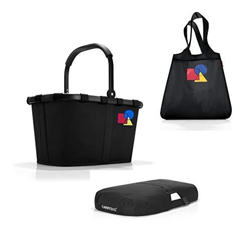 reisenthel Carrybag – Dekor Bauhaus NO. ONE Frame red | 100 Jahre Bauhaus Jubiläum | Kollektion (Frame Black + Cover + Shopper)