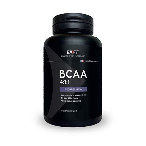EAFIT BCAA 4.1.1 - 120 Gél Prog 20 Entrainements - Croissance Musculaire - Protéines de Whey - Assimilation...