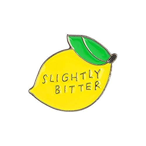 Bangle009 Big Cute Slightly Bitter Lemon Enamel Brooch Pin Backpack Hat Bag Accessory Badge Yellow
