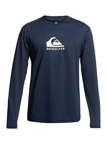 Quiksilver Herren Solid Streak Rash-Guard-Shirt, Opacity, Navy Blazer, Medium