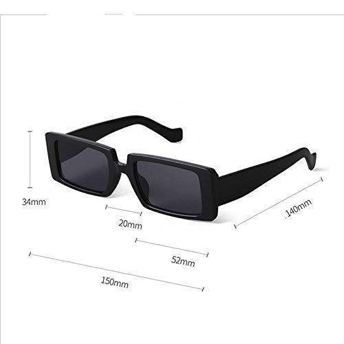 BVFRA Sonnenbrille,Mode Retro Polarisiert Trendy Schwarz Rechteck Linse Designer Dicker Rahmen Uv400 Schutzbrille Für Sportfahrer Mountainbiken Golf Leichtes Brillenauge