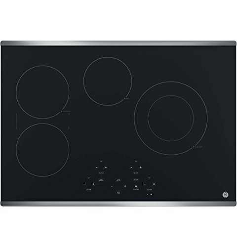 GE JP5030SJSS 30 Inch Smoothtop Electric Cooktop with SyncBurner, Keep Warm, Digital Touch Controls, 4 Radiant Elements, Built-in Timer, Melt Setting, ADA Compliant Fits Guarantee 1 JP5030SJSS