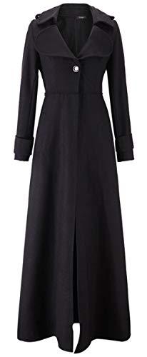Bestfort Mantel Damen Parka Trenchcoat Elegant Lang Wolle Gute Qualität Übergang Langarm Wollmantel Wintermantel Herbst