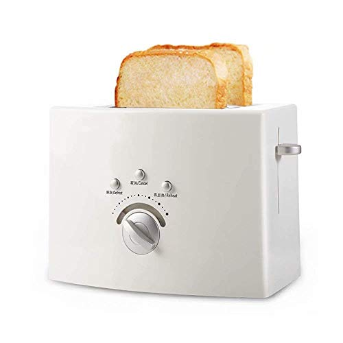 Great Features Of Toaster 2 Slice Toaster, Stainless Steel, White never give up (Color : A)