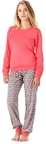 Merry Style Merry Style Mädchen Jugend Schlafanzug MS10-222 (Koralle Punkte, 164)