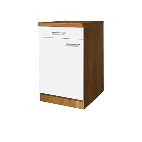Flex-Well Küchen-Unterschrank COSMO - Küchenschrank - 1-türig, 1 Schublade - Breite 50 cm - Weiß