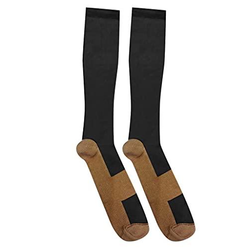 URIBAKY - Calcetines de compresión para mujer y hombre, ideales para correr, calcetines, calcetines de algodón, multicolor, b, XXL