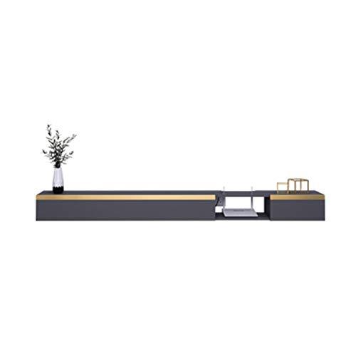 Mueble TV colgante,mueble de TV flotante,mesa flotante para TV,hecho de madera maciza, textura dura, seguro y ecológico, ahorra espacio, fácil de instalar, hermoso y práctico/A / 160×19.4×16cm