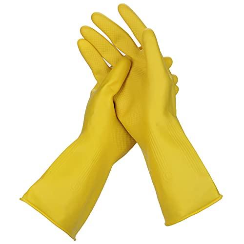 MWBLN Guantes para Lavar Platos,5 Pares 10 Pares de Guantes de látex, Limpieza del hogar, jardín, Cocina, Manoplas para Lavar Platos M 10 Pares