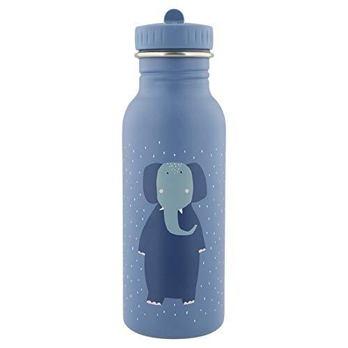Trixie - Botella de acero inoxidable con diseño de elefante, color azul, 500 ml