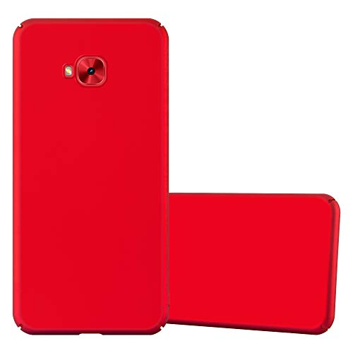 Cadorabo Hülle für Asus ZenFone 4 Selfie PRO in Metall ROT - Hardcase Handyhülle aus Plastik gegen Kratzer & Stöße - Schutzhülle Bumper Ultra Slim Back Hülle Hard Cover