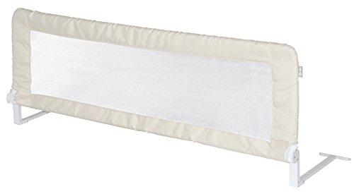 roba Bettschutzgitter 'Klipp-Klapp', klappbares Bettgitter für Babys & Kinder, Rausfallschutz 100 cm, beige
