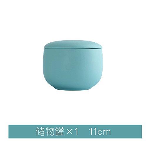 YUWANW Western-Stil Geschirr Keramikschale Platte Urheimat Kreisförmigen Flachen Scheibenplatte Nett Westlichen Besteckschublade Obst, Tiffany-Blau - Caddy X1
