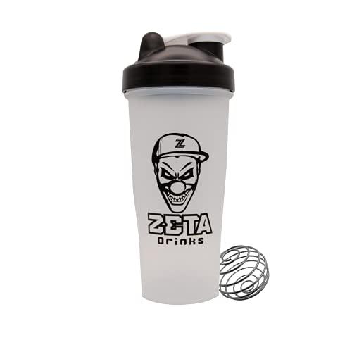 ZETA DRINKS SHAKER INFINITY Botella de agua mezcladora de bebidas energéticas y de proteínas Con tapa antigoteo 700ml   1 UNIDAD (Blanco)