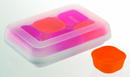 リッチェル Richell 調理用品 わけわけフリージング カップ25 1カップ容量/25ml カップ6コ入 ピンク&オレンジ