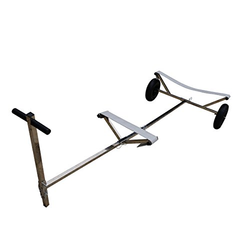 "Stainless Steel Boat Launching Dolly for Inflatable with 16"" Wheels Hand Trailer"