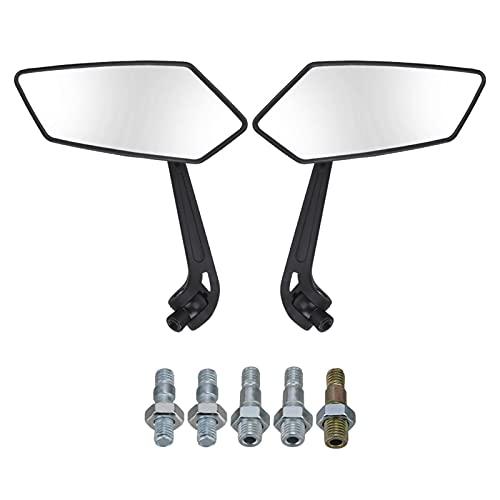 HZZD Specchio Lato Specchio retrovisore per Moto Specchietti Retrovisori per Moto Universale Moto 8mm 10mm Specchietti Laterali Neri per Molti Scooter Specchietto retrovisore Universale