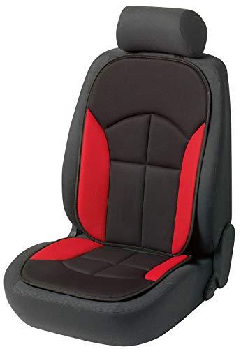 Walser Autositzauflage Novara Universelle Sitzauflage und Schutzunterlage in Schwarz Rot Sitzschoner für Pkw und LKW 13446