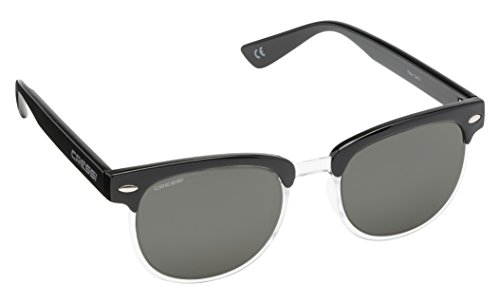 Cressi Panama Gafas de Sol, Unisex Adulto, Negro/Lente Gris Oscuro, Talla Única