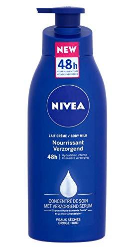 3er Pack - Nivea Body Milk - Original Pump - für trockene Haut, pflegt intensiv die Haut - 400 ml