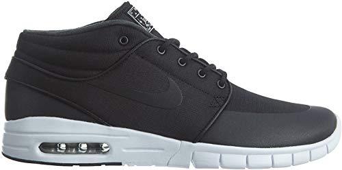 Nike Herren Stefan Janoski Max Mid Skateboardschuhe, Schwarz/Silber/Weiß (Black Black Mtllc Silver White), 38.5 EU