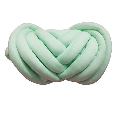 Tira de franela extra gruesa para cuna de bebé, 5 cm, lana supergruesa, puede hacerlo usted mismo, 500 g (8 m) verde menta