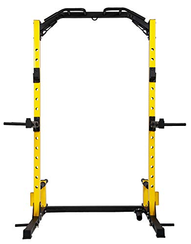 Product Image 5: HulkFit Multi-Function Adjustable Power Rack Exercise Squat Stand with J-Hooks and Other Accessories,Multiple Versions, Pro, 1000LB Capacity