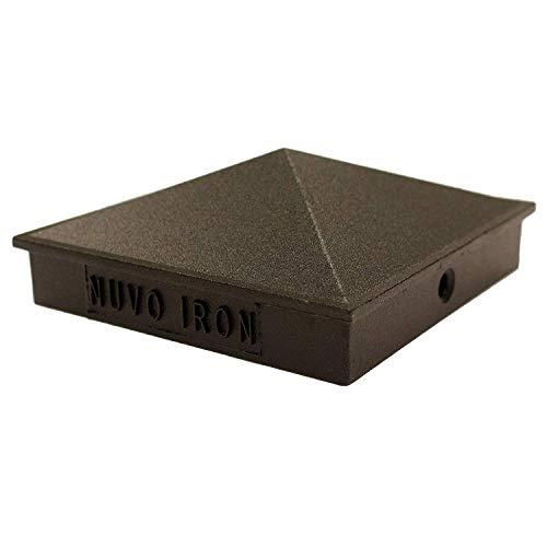 Nuvo Iron PCP02 x 3 1/2' Pyramid Post Cap, Black
