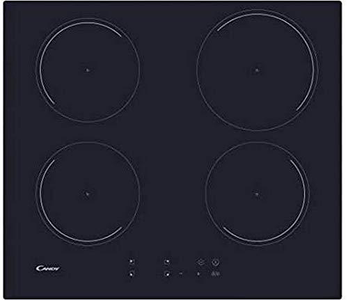 Plaque induction 4 feux Candy CI642C - 4 foyers - 4 boosters - commandes sensitives, minuteurs - Puissance totale 7100 W - largeur 59 cm