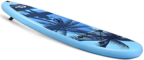 """Product Image 9: Goplus Inflatable Stand Up Paddle Board, 6.5"""" Thick SUP with Premium Accessories and Carry Bag, Wide Stance, Bottom Fin for Paddling, Surf Control, Non-Slip Deck, for Youth and Adult (Blue, 9.8ft)"""
