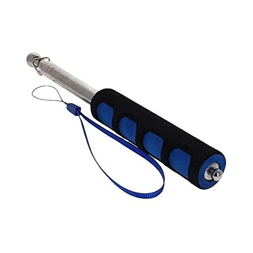 Gmasuber 1 m, barras telescópicas de mano, esponja de acero inoxidable, barra de bandera telescópica, puntero de enseñanza, para guías turísticos y profesores, 1 unidad de color azul