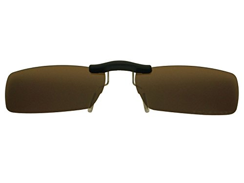 Custom Fit Polarized CLIP-ON Sunglasses For Ray-Ban RB6182 53X17 Brown