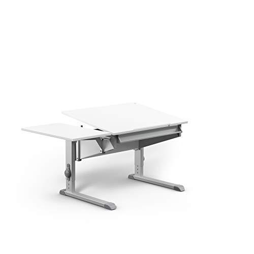 moll Sprinter Side Top Erweiterung Kinderschreibtisch, Holz, Weiß, 67.5 x 37.5 x 2 cm
