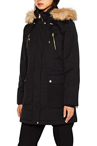 ESPRIT Damen 099Ee1G011 Parka, Schwarz (Black 001), Medium (Herstellergröße: M)