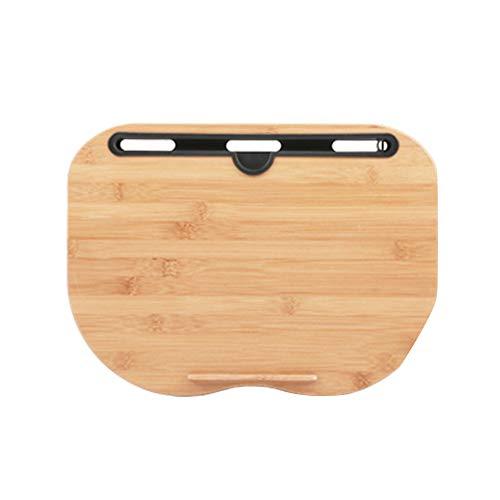YONGYONGCHONG Draagbare Bamboe Laptop Tafel Kussen Lap Bureau Boekenplank Tablet Stand Handige Leren Bureau Houder Voor Bed Notebook Outdoor (38 * 28 * 13cm) Luie tafel