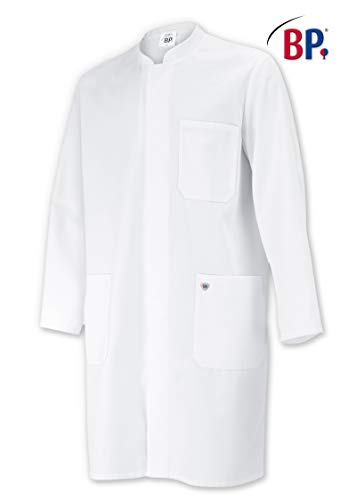 BP 1654-400-21-XLn Unisex-Mantel, Langarm, Stehkragen, 215,00 g/m² Stoffmischung, weiß ,XLn