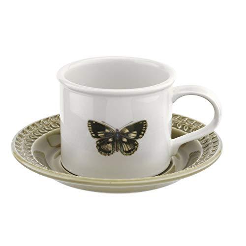 Portmeirion BAMGBW04153 Botanic Garden Harmony - Taza de desayuno y platillo, color ámbar, cerámica