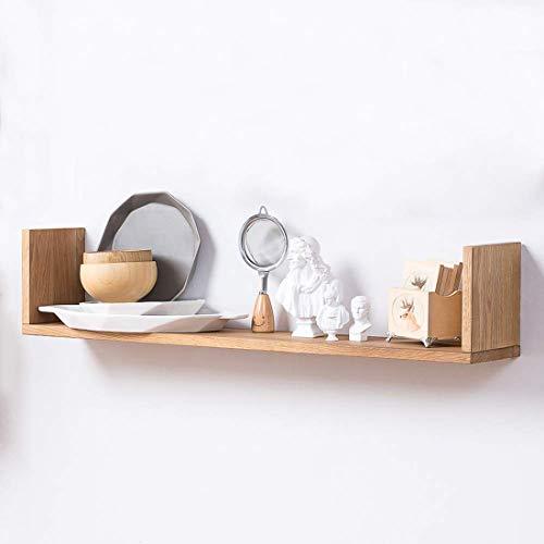 Inman Home Wandregal, aus Holz, rustikal, schwebende Regale zum Aufhängen, Bücherregal, CD- und DVD-Regal, Wandmontage, für Bilder und Auszeichnungen, 1 Regal, Eichenholz, eiche, 81,3 cm (32 zoll)