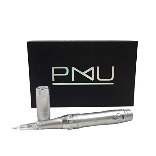 M PMU Permanent Make Up Wireless/Cordless Tattoo Machine - Ombre Powder Brows Miroblading Shading Eyeliner Lip Microshading Tattoo Permanent Make Up (Silver)