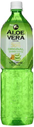 Allgroo Aloe Vera Drink - Erfrischendes Aloe-Vera-Getränk aus Südkorea - Geschmacksrichtung: Pur mit Fruchtfleisch und Honig verfeinert - Einwegpfand (1 x 1500 ml)
