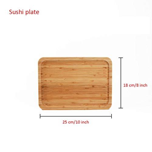 2020 Qualität Sushi Brett, Bambus Sushi Brett Umweltfreundlich Natur Bambus Schneid Tray Käseplatten Kaffee-Tee-Serviertablett Obst Platters Partei Abendessen Teller Sour Süßigkeit Tablett