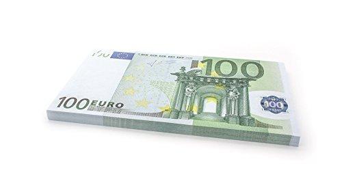Cashbricks 75 x €100 Euro Spielgeld Scheine - vergrößert - 125% Größe