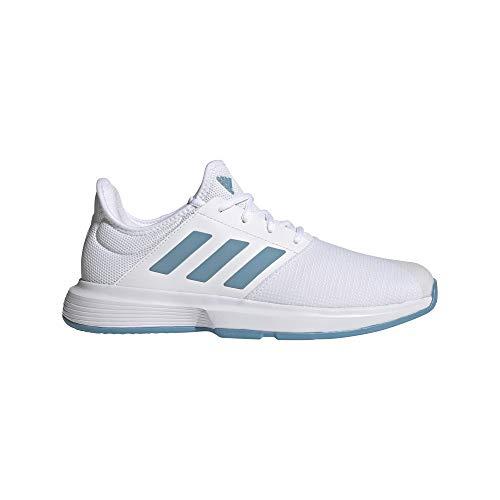 adidas GameCourt M, Zapatillas de Tenis Hombre, FTWBLA/AZUBRU/AZUHAL, 42 2/3 EU